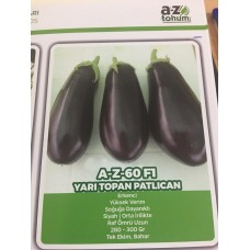 Patlıcan Tohumu A-Z Tohum Hibrit A-Z-60 F1 YARI TOPAN  - 1000 Adet Tohumluk