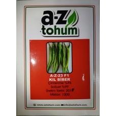 Biber Tohumu A-Z Tohum Hibrit Kıl Biber A-Z 23 F1 - 1000 Adet Tohumluk