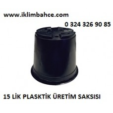 Saksı 15 lik Plastik Siyah Saksı x 5 Adet