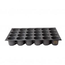 24 Gözlü Plastik Yuvarlak Tohum Fide Viyolü x 100 Adet
