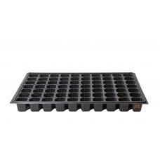 70 Gözlü Kısa Plastik Kare Tohum Fide Viyolü x 100 Adet