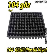 104 Gözlü Plastik Yuvarlak Tohum Fide Viyolü x 10 Adet