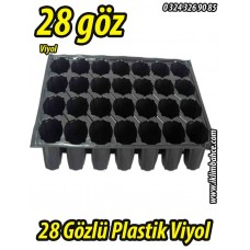 28 Gözlü Plastik Yuvarlak Tohum Fide Viyolü x 5 Adet