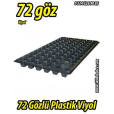 72 Gözlü Plastik Kare Tohum Fide Viyolü x 10 Adet