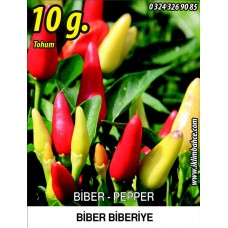 Biber Tohumu Biberiye - Batem Alpçelik - 10 g (~ Takribi 800 Tohum)