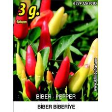 Biber Tohumu Biberiye - Batem Alpçelik - 3 g (~ Takribi 240 Tohum)