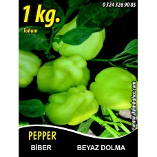 Biber Tohumu Beyaz Dolma 1 Kg