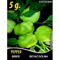 Biber Tohumu Beyaz Dolma Pk 5g  (~ Takribi 400 Tohum)