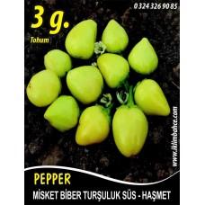 Biber Tohumu Haşmet - Misket - 3 g (~ Takribi 240 Tohum)