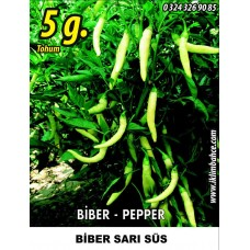 Biber Tohumu Sarı Süs - 5 g (~ Takribi 400 Tohum)