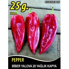 Biber Tohumu Yalova Yağlık 28 - 25 g (~ Takribi 2000 Tohum)