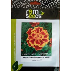 Fransız Kadife Çiçeği Tohumu (Karagöz Kadife) - TAGETES PATULA (~ Takribi 20 Tohum)