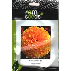 Top Kadife Çiçek Tohumu Sarı Renk - TAGETES ERECTA YELLOW (~ Takribi 50 Tohum)