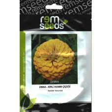 Zinnia Çiçek Tohumu (Kirli Hanım Çiçeği); Sarı Renk - ZINNIA (~ Takribi 25 Tohum)