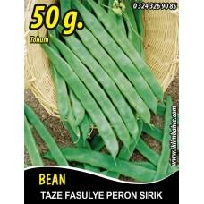 Fasulye Tohumu Peron ( Sırık ) 50 g.  (~ Takribi 150 Tohum)