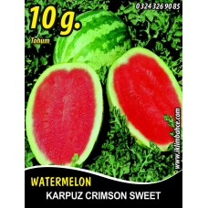 Karpuz Tohumu Crimson Sweet - 10 g (~ Takribi 70 Tohum)