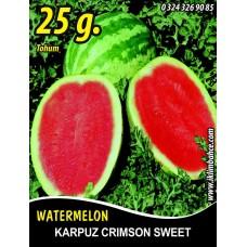 Karpuz Tohumu Crimson Sweet - 25g (~ Takribi 175 Tohum )