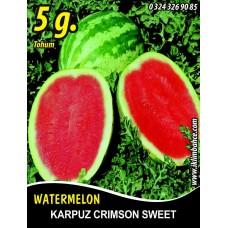 Karpuz Tohumu Crimson Sweet - 5 g (~ Takribi 35 Tohum)