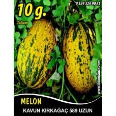 Kavun Tohumu Kırkağaç 589 (uzun) /- 10 g (~ Takribi 140 Tohum)