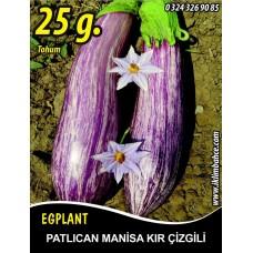 Patlıcan Tohumu Manisa (Kır) 25 g. (~ Takribi 5000 Tohum)