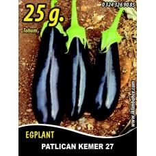 Patlıcan Tohumu Kemer 27 - 25 g (~ Takribi 3.250 Tohum)