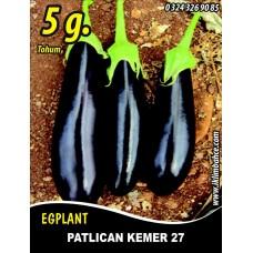 Patlıcan Tohumu Kemer 27 - 5 g (~ Takribi 650 Tohum)