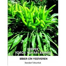 Biber Tohumu Toros Yukarı Bakan Yeşil Süs - 25g (~ Takribi 3000 Tohum)